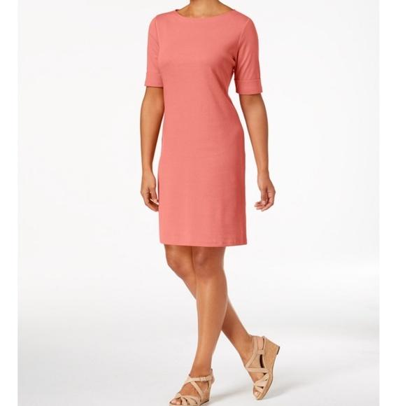 Karen Scott Dresses & Skirts - KAREN SCOTT Petite Elbow Sleeve Cotton Dress